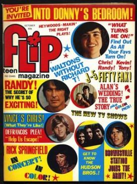 Flip Teen Magazine Donny Osmond, David Cassidy, Jackson Five October 1975 Vol. 9 No. 9 (Collectible Single Back Issue Magazine)