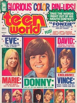 Teen World Donny & Marie Osmond, David Cassidy, Eve Plumb, Susan Dey, More March 1975 (Collectible Single Back Issue Magazine)