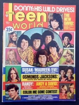 Teen World Michael Jackson, David Cassidy, Osmonds, December 1973 (Collectible Single Back Issue Magazine)