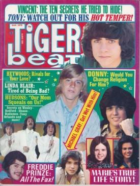 Tiger Beat Osmonds, De Francos, Robert Redford, Heywoods, Linda Blair - March 1975 (Collectible Single Back Issue Magazine)