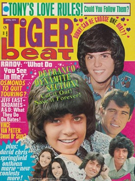Tiger Beat  Donny, Randy, Tony - April 1974 (Collectible Single Back Issue Magazine)