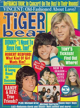 Tiger Beat Donny, Marie, Randy, Tony - October 1974 (Collectible Single Back Issue Magazine)