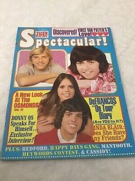 Tiger Beat Spectacular! Donny & Marie Osmond, Vince Van Patten, DeFrancos, Linda Blair - October 1974 (Collectible Single Back Issue Magazine)