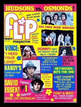 Flip Teen Magazine Osmonds, DeFrancos, Chico And The Man, Mantooth, Linda Blair May 1975 (Collectible Single Back Issue Magazine)