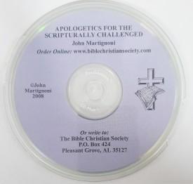 John Martignoni: Apologetics for the Scripturally Challenged (Educational CD)