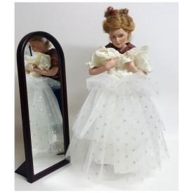 Danbury Mint Norman Rockwell Prom Dress 17 Doll with Dress & Mirror