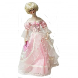 Paradise Galleries Cinderella Porcelain Doll 18 With Glass Slipper Patricia Rose