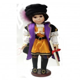 1992 WORLD GALLERY 16 Porcelain Doll Marco Christopher Columbus Limited Edition HS504