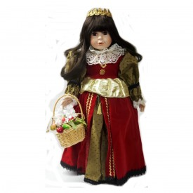 1992 WORLD GALLERY 16 Porcelain Doll Caterina Queen Isabella Limited Edition HS500