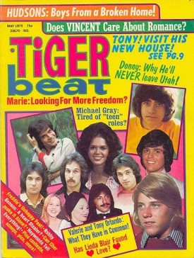 Tiger Beat Osmonds, Tony, Vincent, Hudsons, Linda Blair - May 1975 (Collectible Single Back Issue Magazine)