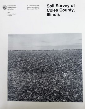 USDA Soil Survey of Coles County, Illinois Issued April, 1993 (Paperback)
