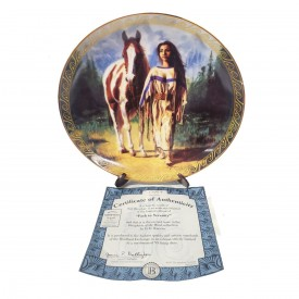 Native American Indian Girl Collector Plate Path to Serenity from Daughters of the Wind by D.E. Kucera #58072