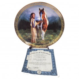 Native American Indian Girl Collector Plate Nourishing The Spirit from Daughters of the Wind by D.E. Kucera #58073