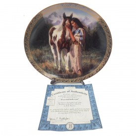 Native American Indian Girl Collector Plate Peaceful Reflection from Daughters of the Wind by D.E. Kucera #58074