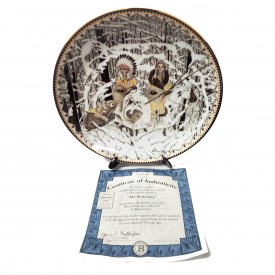 Native American Indian Collector Plate The Protectors from Where The Paths Join by Diana Casey #58194