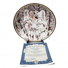 Native American Indian Collector Plate Spirit Trail from Where The Paths Join by Diana Casey #58197