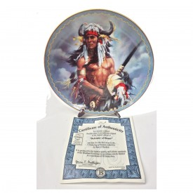 Native American Indian Chef Plate Defender of Honor from A Gathering of Nations Collection by Russ J. Docken 1997 #60251