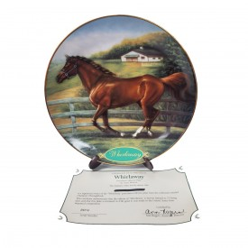 Danbury Mint Race Horse Collector Plate Whirlaway Champion Thoroughbreds Collection by Susie Morton