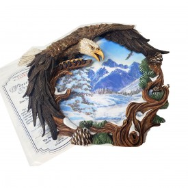 American Eagle Plate Winter Solstice from The Four Season of the Eagle Collection 1996