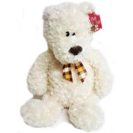 Large Plush Cream Teddy Bear 19 Sitting