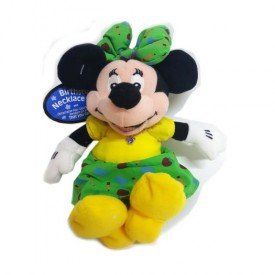 Disney Collectible Minnie Mouse Plush Pal with Faux Sapphire Austrian Crystal September Birthstone Necklace