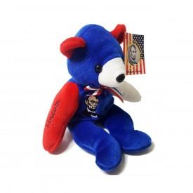 Cris Ta Bears Abraham Lincoln Bear Red, White & Blue Beanbag Plush 9