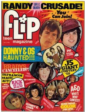 Flip Teen Magazine Jackson Five, Donny Osmond, David Cassidy, Randy Mantooth, Waltons July 1975 (Collectible Single Back Issue Magazine)