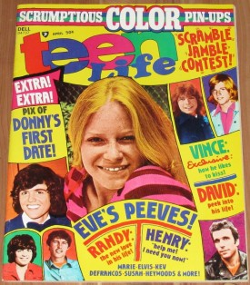 Teen Life Eve Plumb, Fonzie, David Cassidy, Donny Osmond, More April 1975 (Collectible Single Back Issue Magazine)
