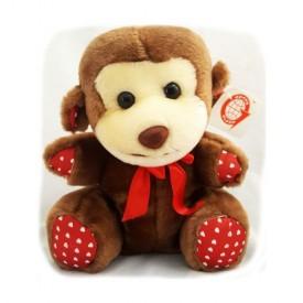 Sitting Valentine Monkey With Heart Ribbon 9 Plush by Goffa Intl