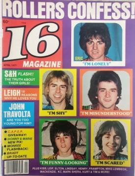 16 Magazine John Travolta Donny & Marie Osmond KISS Leif Garrett April 1977 (Collectible Single Back Issue Magazine)