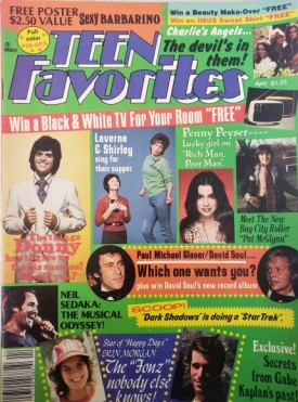 Teen Favorites Osmonds, John Travolta, Charlies Angels, Bay City Rollers, More April 1977 (Collectible Single Back Issue Magazine)