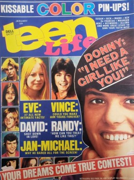 Teen Life Susan Dey, Rick Springfield, Donny & Marie Osmond, David Cassidy, More January 1975 (Collectible Single Back Issue Magazine)