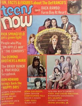 Teens Now Dack Rambo, Rick Springfield, Osmonds, Bradys Partridge Family, More August 1974 (Collectible Single Back Issue Magazine)