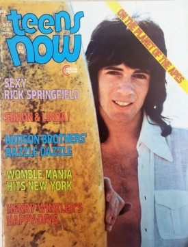 Teens Now Rick Springfield, Shaun Cassidy, Linda Blair, Hudson Brothers, Happy Days February 1975 (Collectible Single Back Issue Magazine)