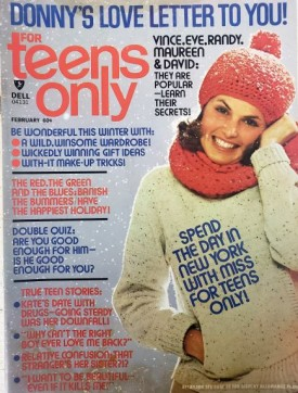 Teens Only Donny Osmond, David Cassidy Vince Van Patten, Eve Plumb, Randy Mantooth, Maureen McCormick February 1975 (Collectible Single Back Issue Magazine)