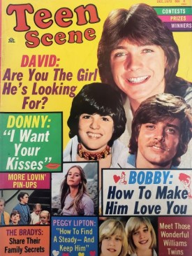 Teen Scene David Cassidy, Donny Osmond, The Bradys, Williams Twins, Peggy Lipton, More December 1972 (Collectible Single Back Issue Magazine)