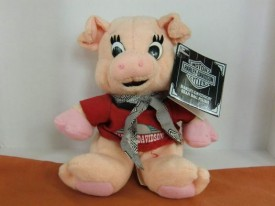 Vintage 1997 Harley Davidson Racer The Hog  Bean Bag Plush Pig