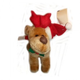 Reindeer Plush With Santa Hat And Scarf 8