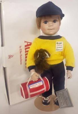 "Vintage Danbury Mint ""Adam - I'm Going To Detroit"" Porcelain Boy Doll by Elke Hutchens"