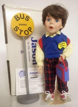 """Vintage Danbury Mint  """"Jason"""" Brave Little Boys Collection Porcelain Doll by Elke Hutchens"""