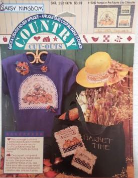 Daisy Kingdom Country Cutouts No-Sew Applique Pumpkin Pie #19202