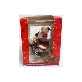 Trevco Coca-Cola Santa On Sled Ornament