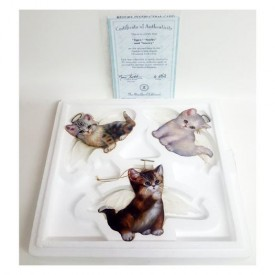 Bradford Exchange Purr-fect Little Angel Cat Ornaments by Jurgen Scholz 68492
