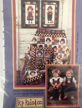 K.P. Kids And Co/ Classic Annie and Andy Quilt, Pillow, Wall Pictures & Clothing