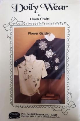 Doily Wear by Ozark Crafts Flower Garden Applique Sewing Pattern 815