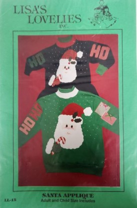 Lisa's Lovelies Santa Applique Adult and Child Size LL15