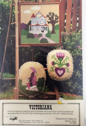 V.I.P. Crafts Victoriana Applique Pattern Wall-hanging, Ruffled Pillows