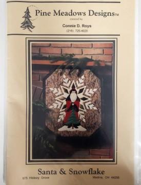 Vintage Pattern #9437 Santa & Snowflake Wall Hanging