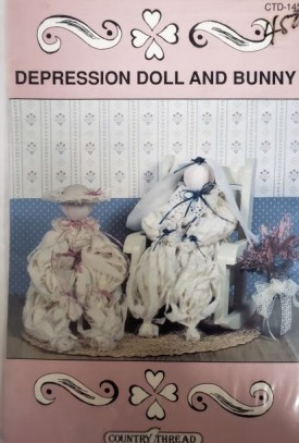Depression Doll and Bunny Pattern Country Thread Designs CTD-145