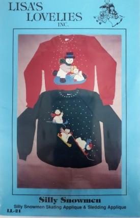 Lisa's Lovelies Silly Snowmen Applique LL21